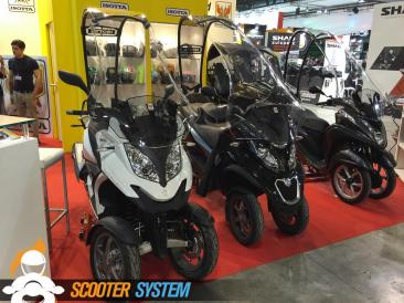 Isotta, Piaggio MP3, Quadro, scooter 3 roues, scooter à toit, Yamaha Tricity