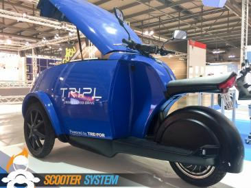 scooter 3 roues, scooter utilitaire, transport, Tripl