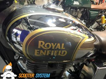 chrome, réservoir, Royal Enfield