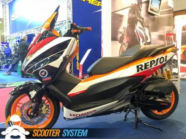 Honda, Honda Forza, Repsol, scooter 125, scooter GT, Tuning