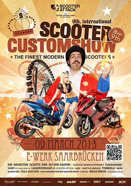 Le Scooter Customshow 2013 proposera de nouvelles animations inédites