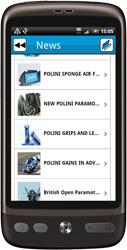 Application Polini pour Android, sur l'Android Market de Google