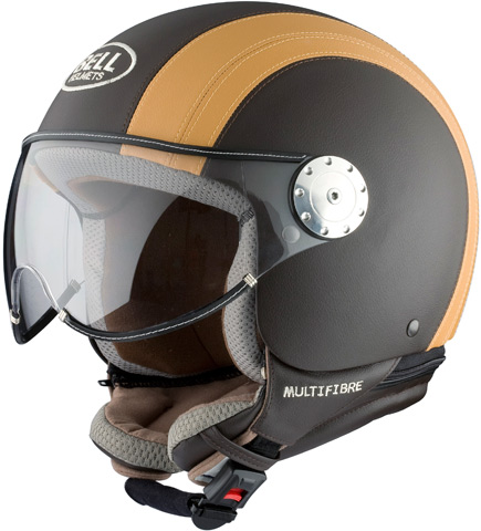 Casque moto jet Bell Shorty Shadow, style vintage