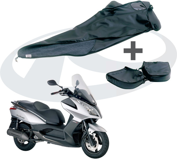 Offre tablier de protection + manchons pour scooter Kymco Dink street 125 i