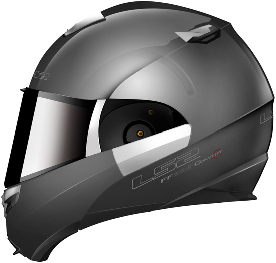 Casque modulable LS2 Helmets FF 393 en version Titane