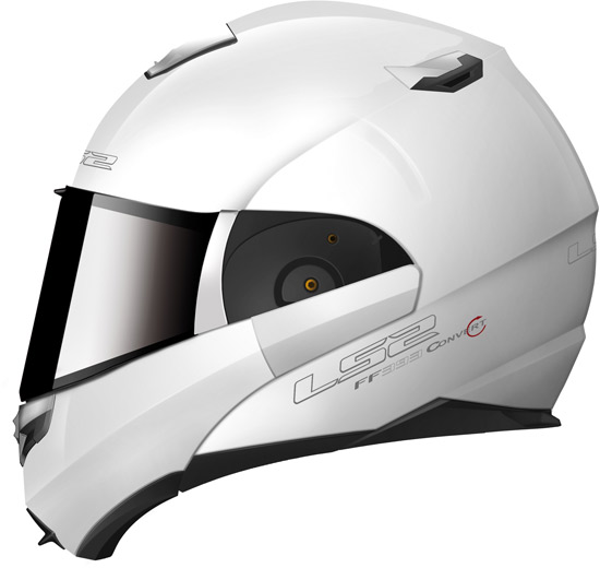 La version blanche du casque convertible LS2 FF 393