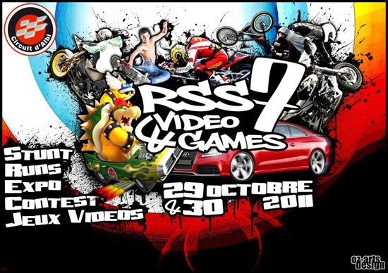 Affiche du RSS7 & Video games 2011, sur le circuit d'Albi