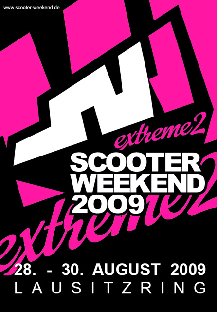 Affiche Scooter Weekend 2009