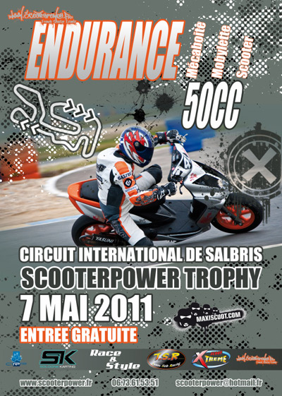 Course d'endurance ScooterPower Trophy 2011, à Salbris le 7 mai