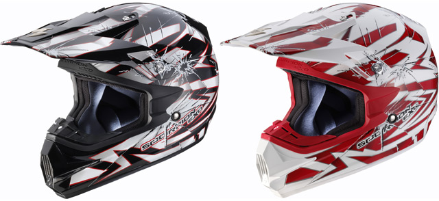 Autres coloris du casque cross Scorpion Exo VX-24 Air Impact
