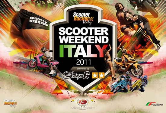 Affiche du Scooter Weekend Italy 2011