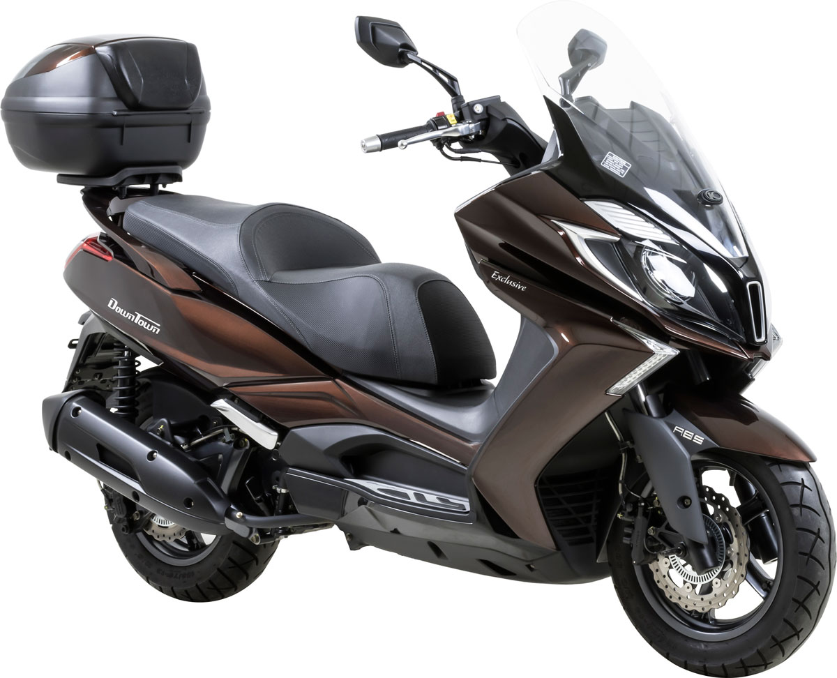 Le Kymco DownTown Exclusive est disponible en motorisations 125i et 350i