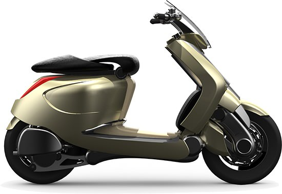 Le concept-scooter Ghost LS puise son inspiration dans de multiples univers