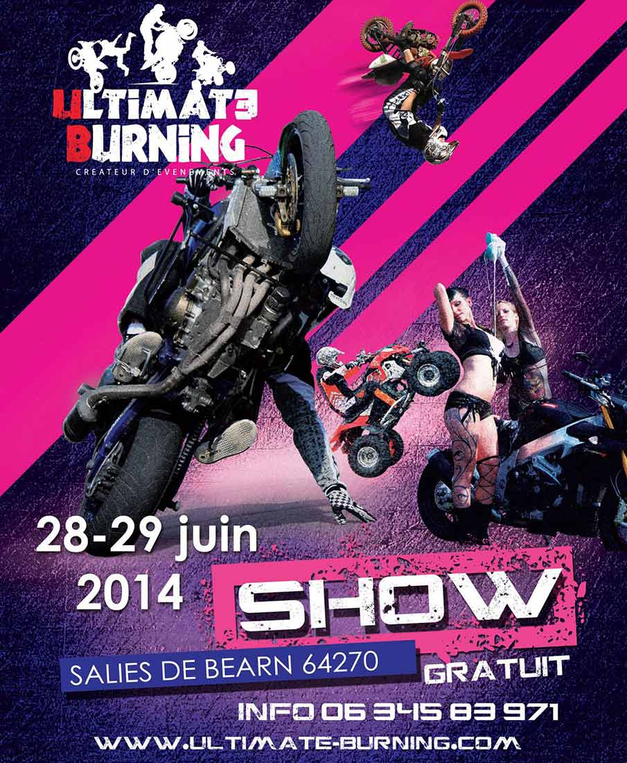 Ultimate Burning Show 2014, spectacle de stunt moto et scooter