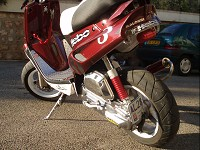 MBK Booster Spirit Red Hebo Racing de Mike - 2