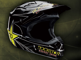 Un casque cross V1 Rockstar Energy chez Fox
