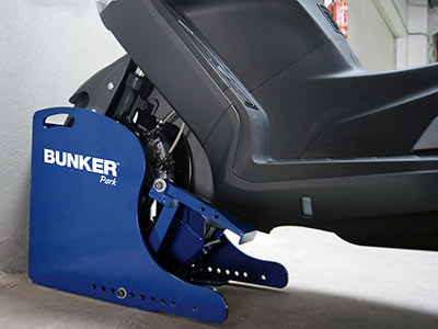 Bunker : l'antivol scooter pour parking sous-terrain
